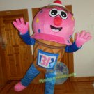 Free Shipping ice cream cone Mascot costume for promotion 1st