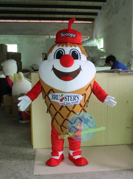 Free Shipping ice cream cone Mascot costume for promotion 3rd