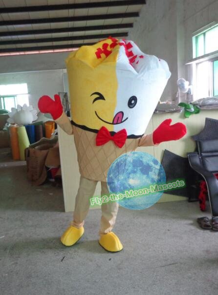 Free Shipping ice cream cone Mascot costume for promotion 4th