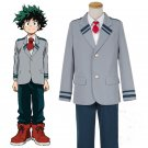 Free Shipping  My Hero Academia Deku Izuku Midoriya Cosplay Costume School Uniform