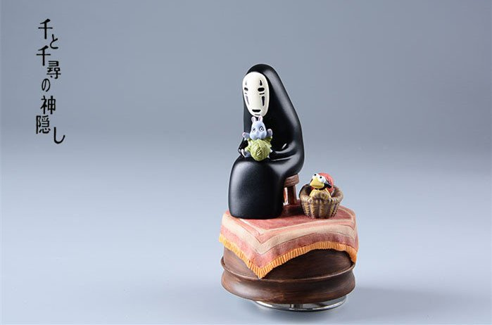 Free Shipping Spirited Away Always with me No Face Music Box