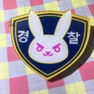 Free Shipping Overwatch D.Va Police Acrylic Broach Charm