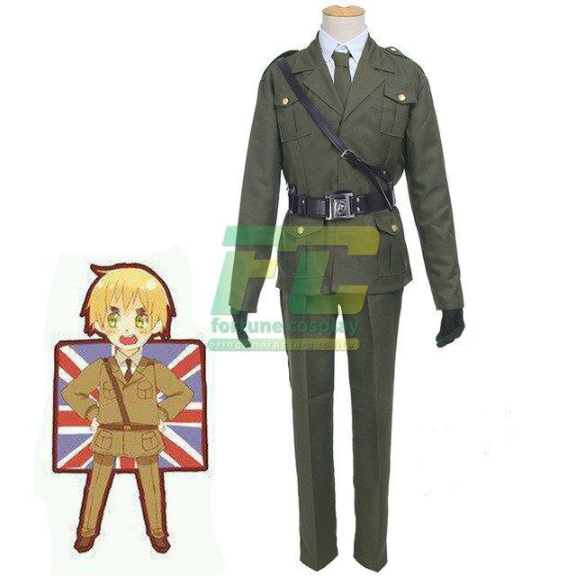 Free Shipping APH Hetalia England Cosplay Costumes Axis Powers Arthur Kirkland