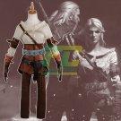 Free Shipping Presale Witcher 3 Wild Hunt Ciri Cirilla Fiona Elen Cosplay Costume