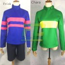 Free Shipping Undertale Frisk Chara cosplay costume Custom Made