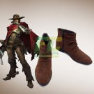 Free Shipping Overwatch OW Mccree cosplay shoes boots