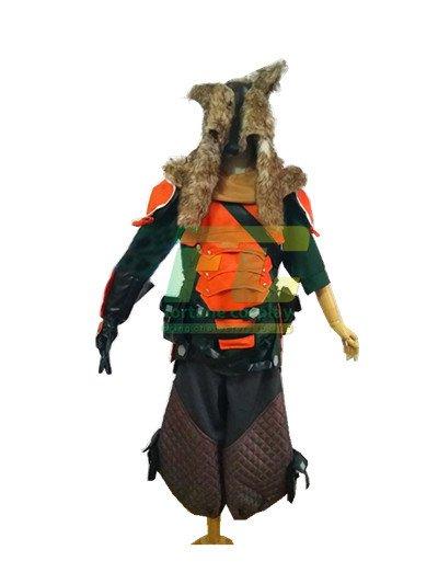 Free Shipping Hanzo Skin Lone Wolf Cosplay Costume Overwatch OW