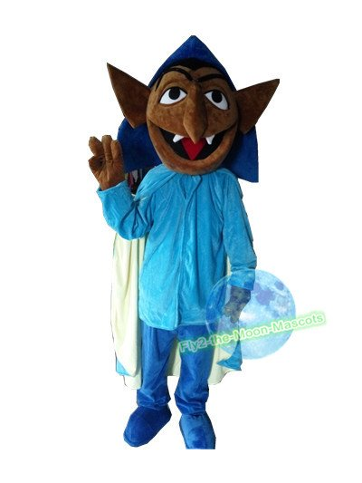 Free Shipping Sesame Street count von count Vampire Mascot Costume for Adult Halloween costume