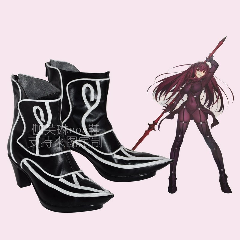 Free Shipping Lancer Scathach Fate Grand Order Cosplay Shoes FGO