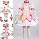 Free Shipping Puella Magi Madoka Magica Madoka Kaname Cosplay Costume