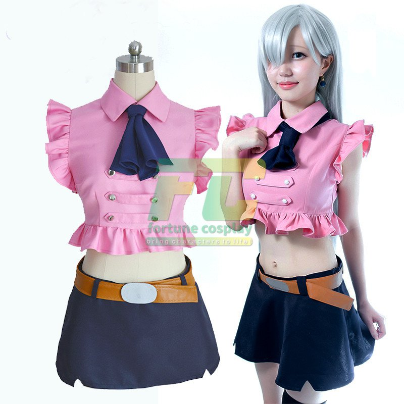 Free Shipping The Seven Deadly Sins Elizabeth Liones Cosplay Costume