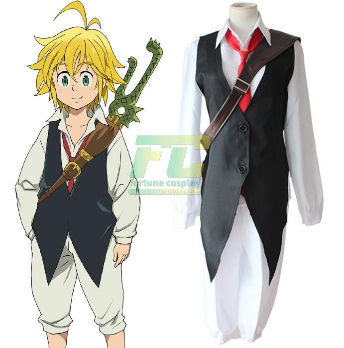 Free Shipping The Seven Deadly Sins nanatsu no taizai Dragon's Sin of Wrath Meliodas cosplay Costume