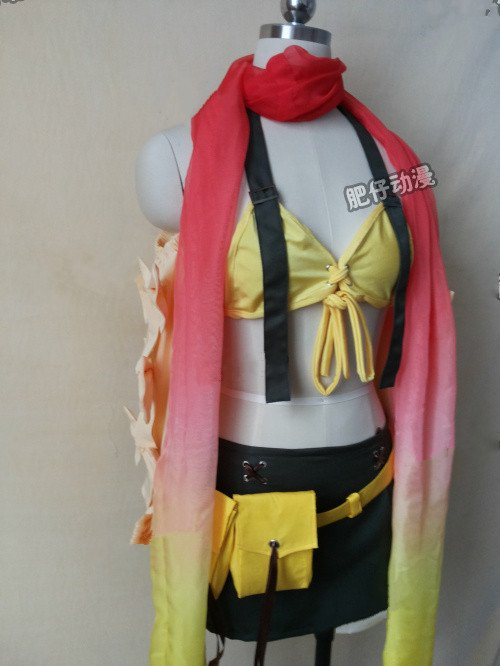 Free Shipping Cosplay Costume Final Fantasy X-2 Rikku