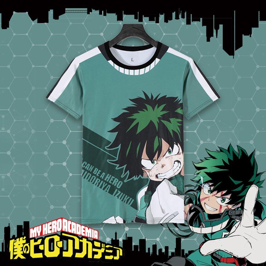 Free Shipping  My Hero Academia  Izuku Midoriya Boku no Hero Academia T shirt