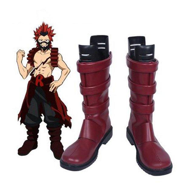 Free Shipping  Boku no Hero My Hero Academia Eijiro Kirishima Cosplay Boots Shoes