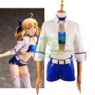 Free Shipping Fate/stay Night Fate Type Moon Racing.Ver Saber cosplay costume