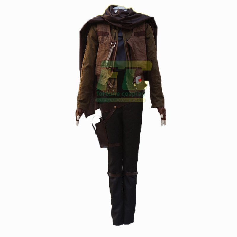 Free Shipping Made Star Wars Rogue One:A Star Wars Story Jyn Erso Cosplay Costume