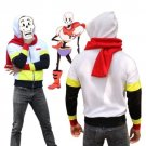 Free Shipping Undertale Papyrus cosplay hoodie jacket with red scarf
