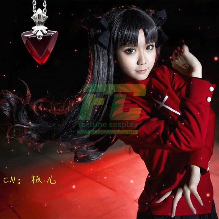 Free Shipping Fate/stay night Rin Tohsaka Cosplay Costume Full Set Custom Made