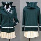 Free Shipping  Super DanganRonpa 2 Chiaki Nanami Cosplay Costumes Jacket Shirt Skirt Custom Made