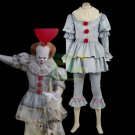 Free Shipping Stephen King's It Pennywise Costume Clown costume Halloween Cosplay