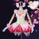 Free Shipping Card Captor SAKURA cosplay costume clear card dress Custom Made