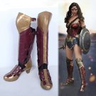 Free Shipping  Batman vs Superman Wonder Woman Diana Prince Cosplay Shoes Boots