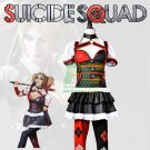 Free Shipping  Batman Arkham Harley Quinn Cosplay Costume Dress Outfit