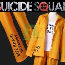 Free Shipping Harley Quinn Prison Uniform Suicide Squad Costume Detainee