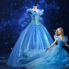 Free Shipping  Movie Cinderella Princess Dress Cosplay Costume