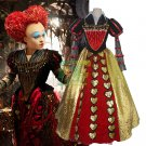 Free Shipping Alice in Wonderland The Red Queen of Hearts Dress Cosplay Costume