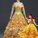 Free Shipping Beauty and Beast Princess Bella Dress Cosplay costume 3
