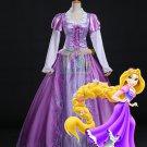 Free Shipping Tangled Rapunzel Princess Dress Halloween Cosplay Costume