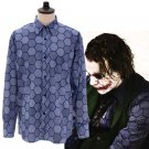 Free Shipping Batman Dark Knight Joker Shirt Cosplay Costume Long Sleeve Blue Spring Shirts