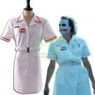 Free Shipping  Batman Joker Cosplay Costume White Nurse Uniform Custom Made