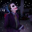 Free Shipping  Batman Dark Night Joker Halloween Cosplay Costume Custom Made