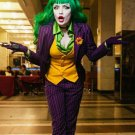 Free Shipping Female Batman Dark Night Joker Halloween Cosplay Costume Custom Made