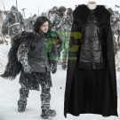 Free Shipping GoT Game of Thrones Jon Snow Night's Watch Outfit Cosplay Costume
