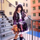 Free Shipping League of Legends Dark Girl Anne Purple Lolita Dress cosplay costume with Bear