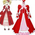 Free Shipping Black Butler Kuroshitsuji Elizabeth Midford Liz Red Lolita Long Dress Cosplay Costume