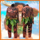 Free Shipping Moana Maui Cosplay Costume Halloween Men's Adult