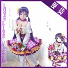 Free Shipping Lovelive!! Bouquet Hand Flower Awaken Tojo Nozomi cosplay costume Lolita Dress