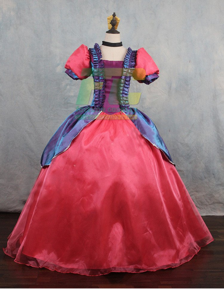 Free Shipping Snow White Step Sister Cosplay Costume Custom Made