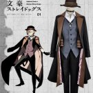 Free Shipping Bungo Stray Dogs Cosplay Costume Maffia Nakahara Chuya Uniform Custom With Hat