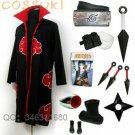 Free Shipping! Stock! Naruto Uchiha Itachi Cosplay Costume Full Set