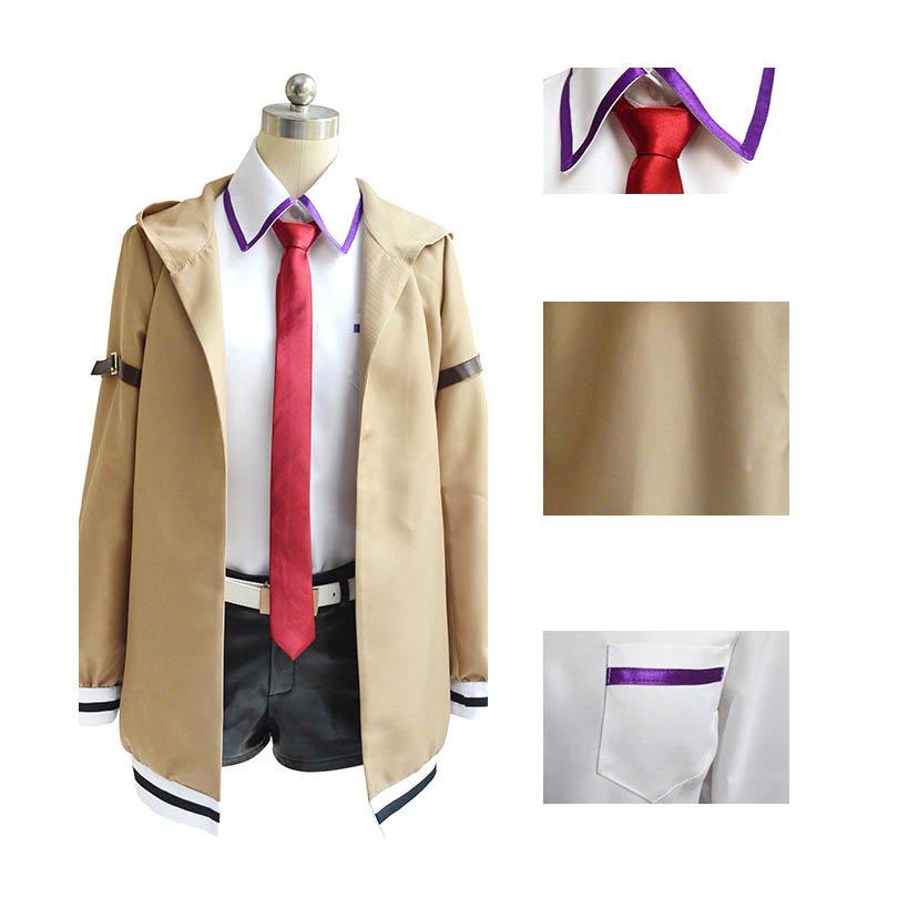 Free Shipping Steins Gate Makise Kurisu Cosplay Costume Stage Custom Made