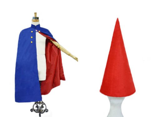 Free Shipping Over the Garden Wall Wirt Cosplay Costume Cloak with Hat Outfit