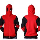 Free Shipping Marvel Deadpool Hooded Men Sweatshirt Zipper Outerwear Jacket 3D