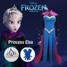 Free Shipping Frozen Elsa Coronation cosplay costume Dress Custom Made