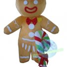 Free Shipping Gingerbread Man with candy stick Mascot costume for Adult Christmas costume